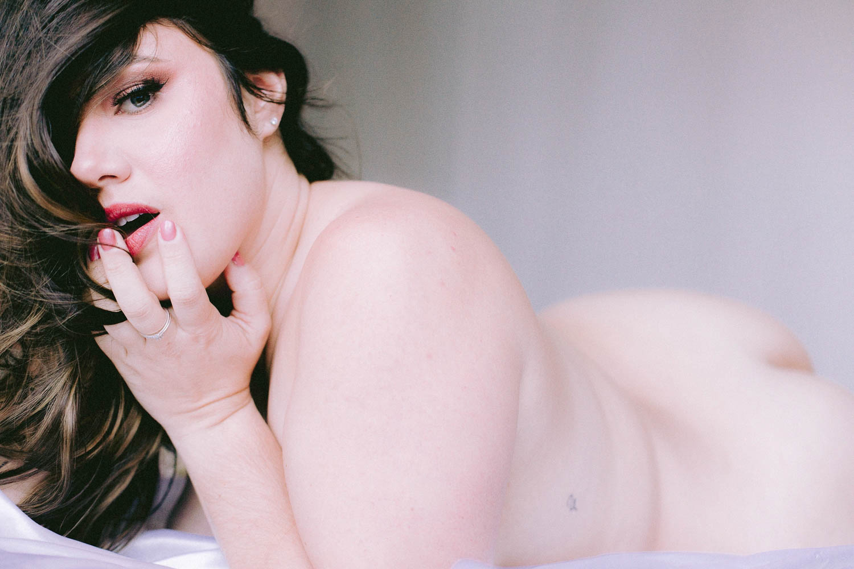 Body positive empowering San Francisco Bay Area boudoir and portrait photographer